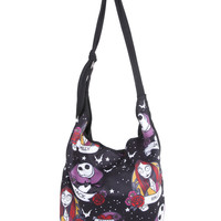 The Nightmare Before Christmas Jack & Sally Tattoo Hobo Bag