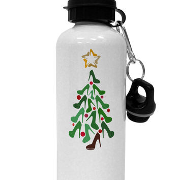 High Heels Shoes Christmas Tree Aluminum 600ml Water Bottle