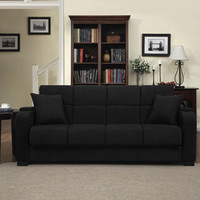 Walmart: Handy Living Tyler Microfiber Storage Arm Convert-a-Couch and Sofa Bed, Multiple Colors