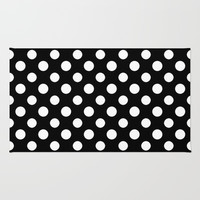 Black and White Polka Dot Pattern Rug by Smyrna