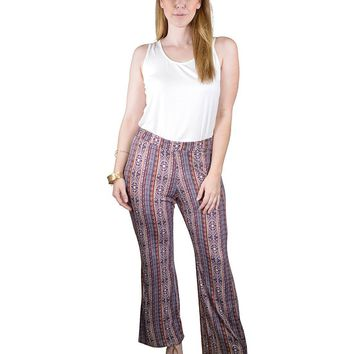 Plus Size Abstract Print Palazzo Pants