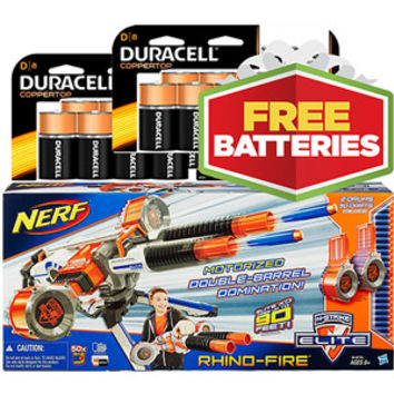 Walmart: Walmart Exclusive NERF Rhino Fire with FREE Duracell Batteries (24% Savings)