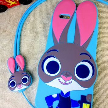 Zootopia Cute Judy Silicon Shockproof  Iphone 5se 6 6s plus  Case