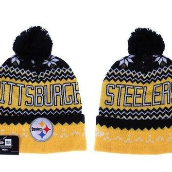 ESB8KY Pittsburgh Steelers Beanies New Era NFL Football Hat
