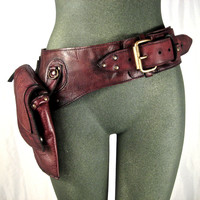 leather hip bag, thigh bag, burning man, tank girl, mad max, utility belt, holster belt, festival belt : Renegade Icon designs | Designer Handbags