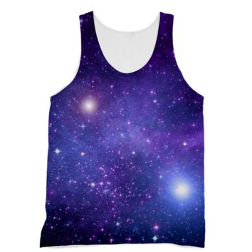 Light Purple Starry Galaxy American Apparel Sublimation Vest