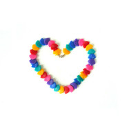 80s Multicoloured Shell necklace