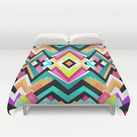 Where colors grow / Pattern Duvet Cover by Elisabeth Fredriksson