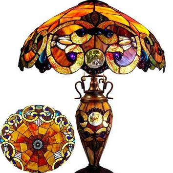 Gaudy Victorian Table Lamp by Chloe Lighting