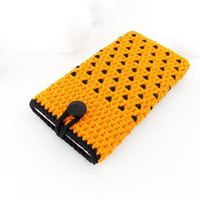 Orange HTC U11 Eyes cover, Sony Xperia L2 case, Samsung S9+ cozy, Black polka dot Nokia 6 sleeve, OnePlus 5T pouch, vegan iPhone 8 plus sock