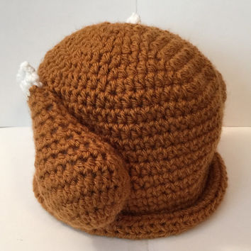 Turkey Hat/ Beanie with Drum Sticks - All Sizes Available