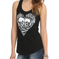 Two Skulls One Heart Girls Tank Top