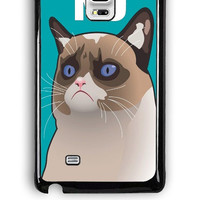 Samsung Galaxy Note Edge Case - Hard (PC) Cover with Cactus the Cranky Cat Plastic Case Design