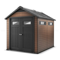 Keter Fusion 7.5-ft x 9-ft Double Door Shed