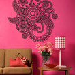 Vinyl Wall Decal Sticker Floral Henna #OS_DC706