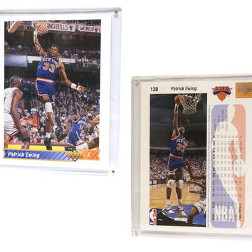"New York Knicks Patrick Ewing 8""x10"" Upper Deck Blow-Up Card with Acrylic Display"