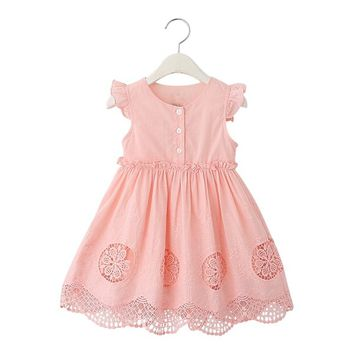 new arrival 2016 girl summer dress for kids children clothes princess cute dress vestidos