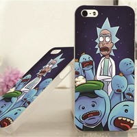 Rick and Morty. rick and mr. meseeks cell phone case