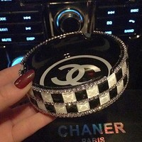 Chanel Fashion Ceramic Diamonds Cigarette Ashtray