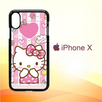 Hello Kitty Candy Pink L1944 iPhone X Case