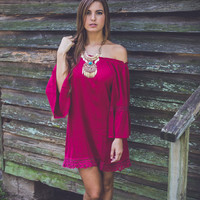 Radiant Rhapsody Dress in Maroon