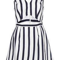 Stripe Cut Out Sun Dress - Fit & Flare Dresses - Dresses  - Apparel - Topshop USA