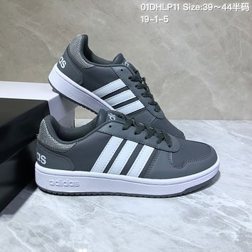 HCXX A529 Adidas NEO Low Leather Casual Skate Shoes Gray