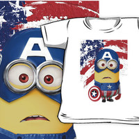 Despicable me minions Captain america All size Kids and Baby T-shirt Clothes