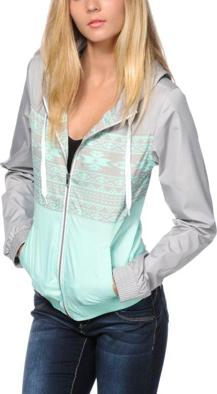 edc10d73cc Empyre Sutton Mint Tribal Windbreaker from Zumiez | Warm Vibes