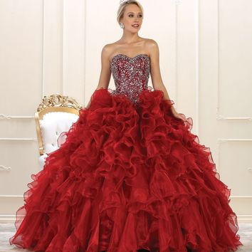 Quinceanera Sweet 16 Long Ball Gown