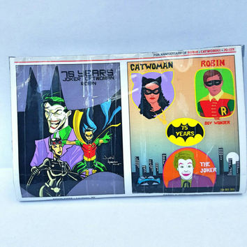 Catwoman - Joker - Robin - Comic Book - Pouch - Clutch Purse