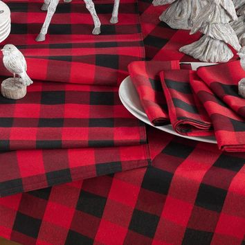 Buffalo Plaid Table Linens Collection