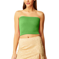 Rewind Green Basic Tube Top