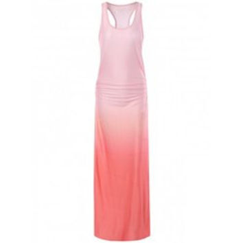 Trendy Women's Racerback Ombre Maxi Dress