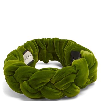 Braided-velvet headband | Gucci | MATCHESFASHION.COM UK