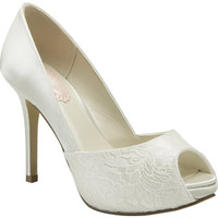 Pink Paradox London Full Back Peep Toe - David's Bridal - mobile