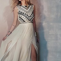 Mara Hoffman Womens Beaded Silk Chiffon Gown