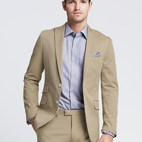 Modern Slim Fit Chino Suit Jacket