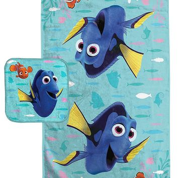 Disney Pixar Finding Dory Cotton Bath Towel and Washcloth Set