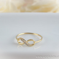 gold infinity ring us size 5 - 9