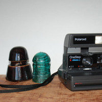 Vintage One Step Close Up Polaroid Instant Camera 600 Film 1970s 002