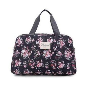 Sports gym bag Women Lady Large Capacity Floral Duffel Totes Sport Bag Multifunction Portable Sports Travel Luggage Gym Fitness Bag 4 Colors KO_5_1