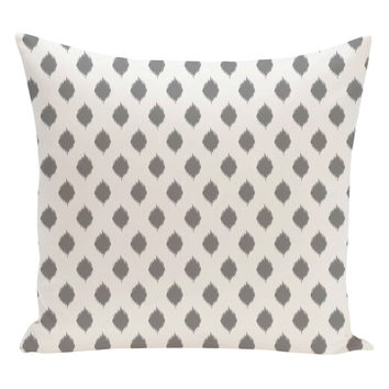 e by design Cop-Ikat Geometric Pillow - Grey