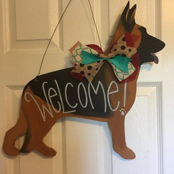 German Shepherd Door Hanger