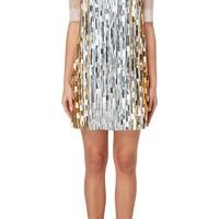 Nicholas Oakwell Haute couture silver & gold dress, Spring/Summer 2012 - Vintage Haute Couture | Luxury clothing William Vintage