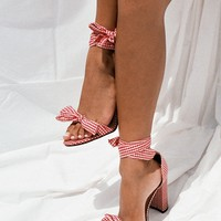 Gingham Bow Heels - Red - Shoes by Sabo Skirt