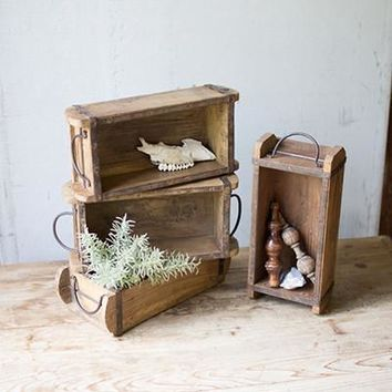 Wooden Brick Mold With Iron Handles