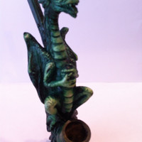 Tobacco Hand Made Pipe, Standing Dragon Design