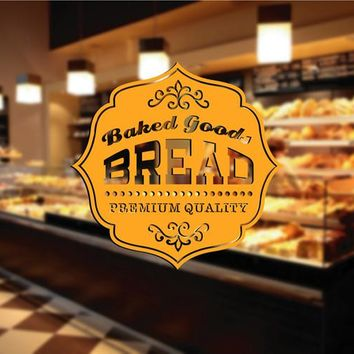 ik2060 Wall Decal Sticker premium quality food baked bread bakery