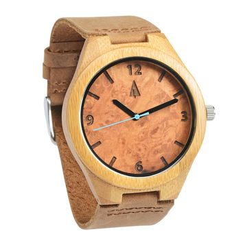 Wooden Watch // Maple Burl Blue
